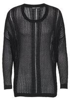 CRAVE - Fine Crochet Knit Top Black
