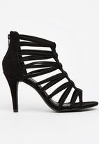 edit - Strappy Heels Black