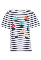 POP CANDY - Boats  Tee Mid Blue
