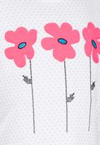 POP CANDY - Flower Tee White