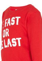 See-Saw - Printed Sweater Red