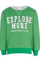 See-Saw - Printed Sweater Green