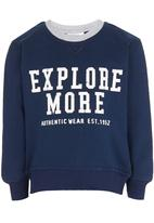 See-Saw - Printed Sweater Navy