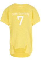 POP CANDY - Toddler 7 Raglan Sleeve Tee Yellow