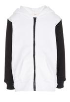 POP CANDY - Panda Hooded Zip Jacket Black and White