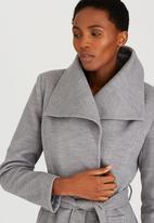 edit - Funnel Neck Trench Coat Grey