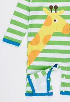 POP CANDY - Giraffe Stripe Jumper Green