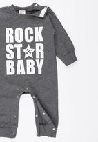 POP CANDY - Rock Star Baby  Jumper Grey