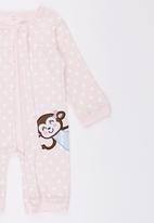 POP CANDY - Pink Polka Dot Monkey   Jumper Pale Pink