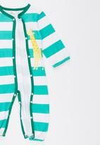POP CANDY - Green  Stripe Giraffe  Long Sleeve Jumper Mid Green