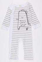 POP CANDY - Stripe Monster Bodysuit White