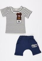 POP CANDY - Toddler Tee And Short Set Navy