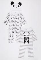POP CANDY - 3 Piece Panda Set Black and White