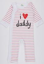 POP CANDY - I love Daddy  Long Sleeve Jumper White