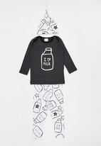 POP CANDY - I love Milk 3 Piece Set Dark Grey