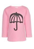 POP CANDY - Crew Neck Printed Umbrella  Tee Mid Pink