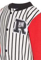 POP CANDY - Stripe Rugby Long Sleeve  Jacket Multi-colour
