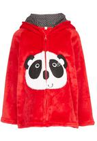 POP CANDY - Pink Panda Hooded Zip Jacket Red