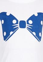 POP CANDY - Crew New Bow Printed Tee White