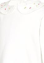 POP CANDY - Collar Long Sleeve Tee White