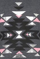 Rebel Republic - Longer Length Fleece Sweater Grey