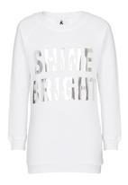 Rebel Republic - Longer Length Fleece Sweater White