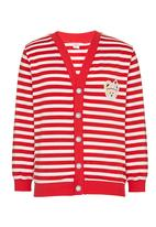 POP CANDY - Stripe Cardigan Red