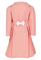 POP CANDY - Girls Long Sleeve Collared Dress Mid Pink