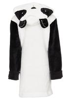 POP CANDY - Hooded Panda Gown Black and White