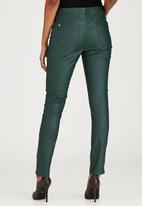 Brave Soul - 5 Pocket Coated Jeans Green