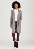 Brave Soul - Fine Gauge Long Line Cardigan Grey