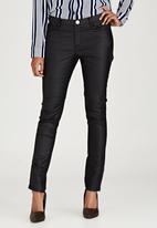 Brave Soul - 5 Pocket Coated Jeans Black