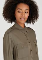 Brave Soul - Military Style Shirt Khaki Green