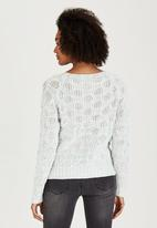 Brave Soul - Knit with Turn Back Cuff Detail Light Green