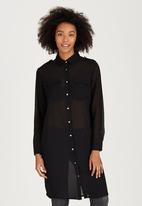 Brave Soul - Longline Shirt Black