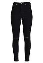 Brave Soul - High-waisted Skinny Jeans Black