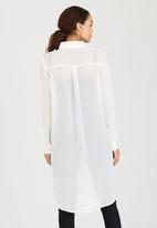 Brave Soul - Longline Shirt White