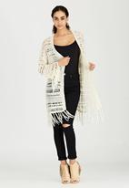 Brave Soul - Batwing All Over Stitch Cardigan Stone