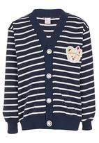 POP CANDY - Stripe Cardigan Navy