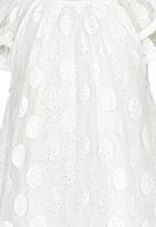 POP CANDY - Polka Dot Dress White