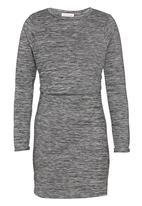 Brave Soul - 2-in-1 Dress Dark Grey