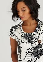Revenge - Monochrome Flower Tunic Black and White