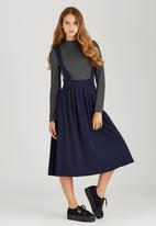 c(inch) - Dungaree Skirt Navy