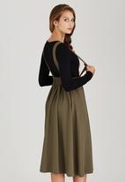 c(inch) - Dungaree Skirt Khaki Green