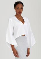 Somerset Jane - V-neck Shirt White