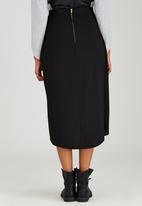 Somerset Jane - Overlay Skirt Black