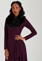 c(inch) - Faux Fur Collar Black