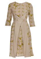 adam&eve; - Joan Waist Detail Dress Chartreuse