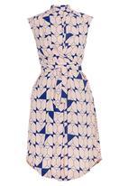 adam&eve; - Raphaella Wrap Front Shirt Dress Pale Pink