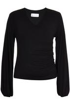adam&eve; - Shae Wrap Knit Top Black